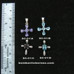 Silver crucifix with precious stones