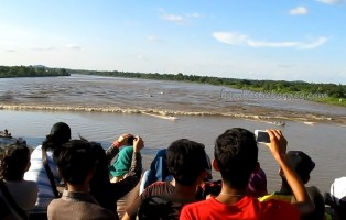 Fort Alice, Iban, kayaking, longboat paddling, Lupar River, Malaysia, regatta, Sarawak Event, Simanggang, standing paddle, Sungai Batang Lupar, surfing, Tidal Wave, tides, water sports