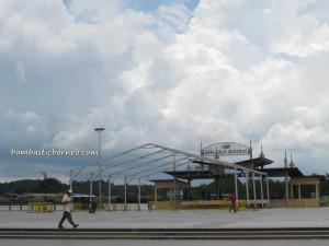 Borneo, chalets, Mardiah Resort, Old airport, Pasar Malam, Pasar Utama, Tourism, town, wet market