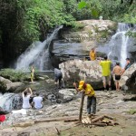 air terjun Tanju, bamboo bridge, native, homestay, jungle trekking, rainforest, Kampung Kiding, bidayuh village, Kuching, malaysia, Padawan, Tourism, tourist attraction, traditional, tribal, tribe,