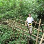 air terjun, Tanju waterfall, authentic, bamboo bridge, Borneo Highlands, dayak bidayuh, native, jungle, rainforest, Kampung Kiding, village, Kuching, malaysia, tour guide, tribal, traditional, tribe