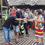 authentic, Indigenous, cultural dance, dayak bidayuh, native, tribe, tribal, Nyobeng event, Dusun Sebujit, Bengkayang, West Kalimantan, Obyek wisata, Rumah Adat Baluk, crossborder, tuak, palm wine, budaya