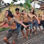 authentic, Indigenous, cultural dance, dayak bidayuh, native, tribe, tribal, Nyobeng gawai, village, Dusun Sebujit, Bengkayang, Kalimantan Barat, Obyek wisata, Rumah Adat Baluk, transborder, tourism, event,