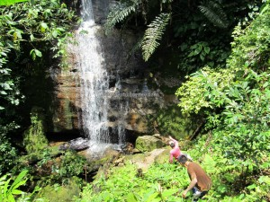 outdoor, nature, hiking, jungle, rainforest, waterfall, authentic, native, backpackers, Kampung Sadir, Village, Kuching, Malaysia, Padawan, Tourism, travel guide, 沙捞越瀑布