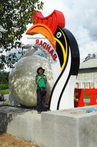 Bandar, hornbill sculpture, dayak bidayuh, Entikong, Kuching, Malaysia, news, Pontianak, 沙捞越, town, update, transborder, crossborder,