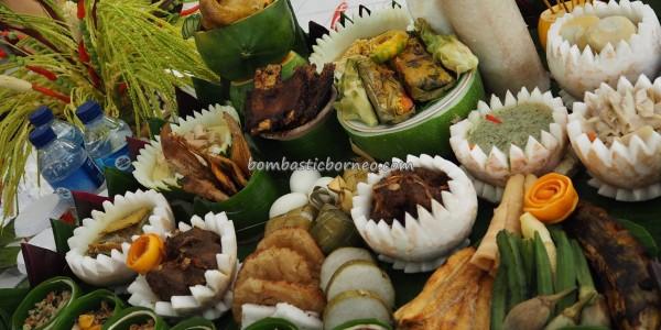 Lomba Memasak, exotic delicacy, authentic, Indigenous, Kalimantan Tengah, Borneo, Indonesia, native, suku dayak, event, Obyek wisata, tourism, traditional, tribal, Food decoration, tribe,
