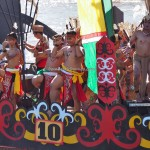 River Parade, pesta adat, Authentic, Borneo, Central Kalimantan, 中加里曼丹, Indonesia, carnival, cultural dance, native, Suku Dayak, event, Kahayan River, Pariwisata, tourist attraction, tribal,