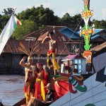 River Parade, festival budaya, Authentic, Borneo, Central Kalimantan, 中加里曼丹, Indonesia, cultural dance, native, Suku Dayak, event, Kahayan River, obyek wisata, tourist attraction, tribal, tribe,