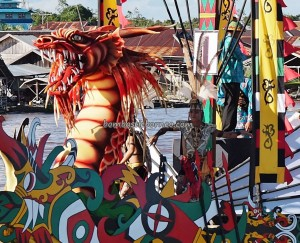 River Parade, Festival budaya, Isen Mulang, Pesta adat, Authentic, Central Kalimantan, 中加里曼丹, Palangka Raya, carnival, cultural dance, Suku Dayak, Sungai Kahayan, Obyek wisata, Tourism, travel guide, tribe