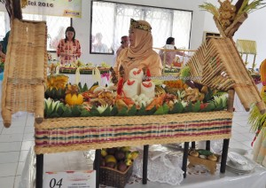 garnishing, exotic delicacy, Food decoration, cooking competition, Festival Budaya, Indigenous, Borneo, 中加里曼丹, presentation, native, carnival, pariwisata, Tourist attraction, tribe, Isen Mulang, event,