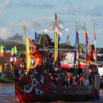 Lomba Jukung, Isen Mulang, Pesta adat, Indigenous, Borneo, Central Kalimantan, 中加里曼丹, Palangka Raya, carnival, culture, native, Sungai Kahayan, Pariwisata, tourist attraction, traditional, tribal,