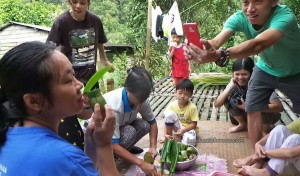 rural village, mini library, exotic delicacy, food, pitcher plant dumpling rice, sticky rice, glutinous rice, cooking lesson, authentic, Borneo Heights, Malaysia, volunteer, native, dayak bidayuh, tribal,