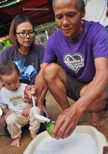 exotic food, delicacy, dumpling rice, indigenous, Borneo Heights, Kampung Sapit, village, Padawan, Kuching, Malaysia, volunteer, native, dayak bidayuh, tribal, Non Government Organization,