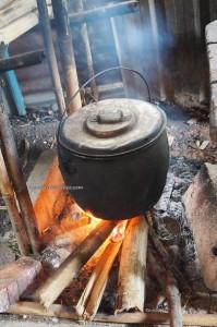 delicacy, sticky rice, cooking lesson, authentic, Borneo Highlands, Kampung, Sapit village, Padawan, Kuching, Malaysia, seva, education, dayak bidayuh, tribal, tribe,