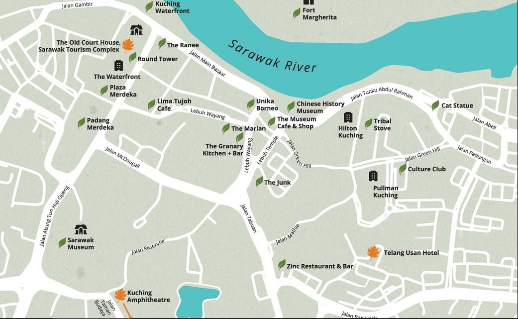 Rainforest Fringe Festival Kuching Sarawak Malaysia Event - Kuching map