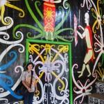 Desa Budaya Sungai Bawang, Balai Adat, authentic, culture, Indonesia, Kutai Kartanegara, Suku Dayak Kenyah, native, motifs, Tourism, obyek wisata, traditional, tribal, tribe, 婆罗州旅游景点