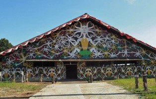 Balai Adat, indigenous, culture, Indonesia, East Kalimantan, Muara Badak, motifs, sculptures, Tourism, tourist attraction, traditional, travel guide, tribal, 东加里曼丹, 旅游景点