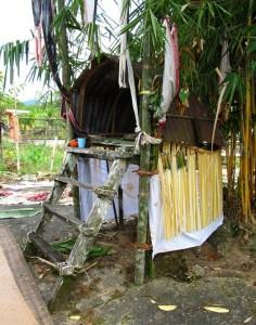 paddy harvest festival, altar, authentic, ritual, ceremony, dayak bidayuh, Kuching, Borneo, Kampung Opar, village, Malaysia, 沙捞越, travel guide, tribal, tribe,