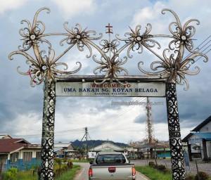 Kapit, Sungai Asap Resettlement, Borneo, homestay, longhouse, rumah panjang, native, orang Ulu, Kenyah tribe, dayak motif, Tourism, traditional, tribal, village, 婆罗州旅游景点