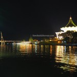 backpackers, destination, pedestrian bridge, jembatan, event, Waterfront, Borneo, Malaysia, obyek wisata, tourist attraction, 古晋, 沙捞越, 旅游景点, 步行桥