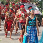 pawai budaya, Naik Dango, Gawai Harverst Festival, authentic, transborder, ceremony, Dayak Kanayatn, native, tribe, Kalimantan Barat, Kampung Budaya, Ngabang, tourist attraction, traditional, 原著民丰收节日