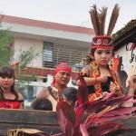 cultural parade, Naik Dango, Gawai Padi, indigenous, culture, tribal, Borneo, Kalimantan Barat, Kampung Budaya, Landak, Tourism, obyek wisata, traditional, travel guide, 婆罗洲丰收节日,