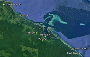 Telaga Biru Lake, white sandy beach, Biduk-Biduk, Batu Putih, adventure, nature, backpackers, destination, Borneo, Danau Labuan Cermin, hidden paradise, Tourism, tourist attraction, Transborneo, 婆罗洲, 旅游景点