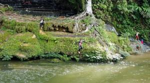 Waterfall, air panas, adventure, nature, outdoor, Borneo, Kalimantan Utara, Mentarang, Desa Paking, village, Obyek wisata, Tourism, tourist attraction, 北加里曼丹, 旅游景点