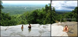Infinity pool at top of 1st falls (base of 2nd falls).