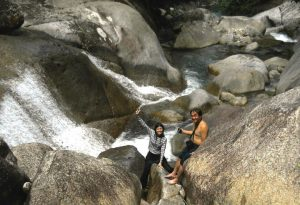 Bombastic Borneo's Mei Er & Sim C.K. enjoying a refreshing break in Canyon.