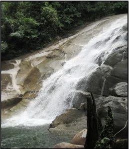 Riam Berasap Falls, Sejingan Besar, Sambas, Kalimantan Barat.