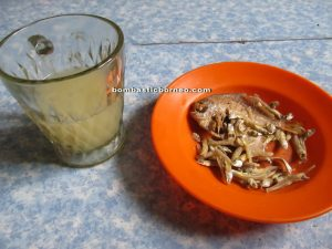 Nyok + ikan masin (salted fish)