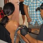 Borneo, native, dayak motive, hand tapping tattoo, traditional tattoo, sarawak, sabah, kalimantan