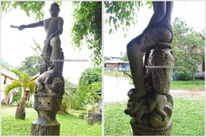 Tonggak Keramat, East Kalimantan Timur, Indonesia, Dayak Benuaq, Borneo, outdoors, Tourism, authentic, ethnic, traditional, indigenous, native, Melak, West Kutai Barat, Culture, tribe, sculptures, Belian, adat, ritual, Damai,