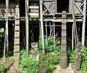 Sendawar, Lamin, adventure, Borneo, Indigenous Dayak Benuaq, East Kalimantan, hard wood, traditional longhouse homestay, Indonesia, Kalimantan Timur, outdoor, village, Statue carving, patung, sculptures,