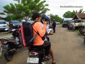 bike ride, Borneo, indonesia, Kalimantan Barat, Sungai Pawan river, Rumah Adat Melayu, Rumah kuning, speedboat, west kalimantan,