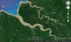 Fort Alice, Iban, kayaking, longboat paddling, Lupar River, Malaysia, regatta, Sarawak Event, Simanggang, stand up paddler, Sungai Batang Lupar, surfing, Tidal Wave, tides, water sports