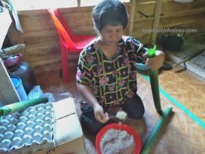 community service, authentic, indigenous, Kuching, Malaysia, native, Non Government Organization, Padawan, rural, seva, tribal, tribe, Kampung Ayun, traditional, bamboo cooking, ayam pansuh, lemang,