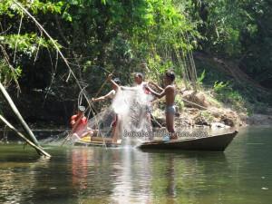 adventure, authentic, Landa Dayak Bidayuh, Boat ride, catfish, culture, Desa Pala Pasang, fresh water fish, native, nature, outdoor, Sanggau, Soft shell turtles, Dusun Suruh Engkadok, tapah, tribal, tribe, village,