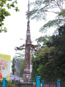 authentic, kalimantan timur, Kota Bontang, nature, Obyek wisata, outdoor, traditional, travel guide, dayak motif, totem pole, native, indigenous, tourism