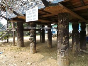 adventure, authentic, culture, indigenous, indonesia, Kutai Timur, Lepau Parai, Lumbung Padi, Miau Baru, wisata budaya, sculptures, Suku Dayak, Tourism, tourist attraction, travel guide, tribe, village,