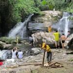air terjun Tanju, bamboo bridge, native, homestay, jungle trekking, rainforest, Kampung Kiding, bidayuh village, Kuching, malaysia, Padawan, Tourism, tourist attraction, traditional, tribal, tribe,