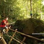adventure, outdoor, nature, air terjun, Tanju waterfall, bamboo bridge, Borneo Heights, dayak bidayuh, native, rainforest, Kuching, Padawan, tour guide, Tourism, tourist attraction, traditional, tribe,