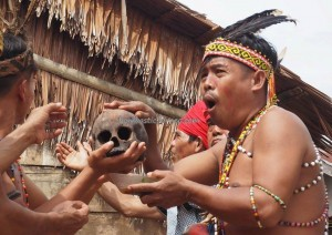 authentic village, Indigenous, tribal event, culture, native, tribe, Dusun Sei Biang Bengkayang, Indonesia, Kalimantan Barat, Nyobak'ng, cleansing, skull feeding, tengkorak, wisata adat, Tourism, traditional,