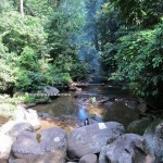 trekking, hiking, air terjun Mureh, backpackers, dayak bidayuh, native, tribal, village, Dusun Gun Tembawang, adventure, outdoor, Tourism, destination, crossborder, travel guide, tribe, rainforest,