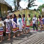 authentic, Indigenous, cultural dance, budaya, dayak bidayuh, tribal, event, Nyobeng, paddy harvest, village, Desa Hli Buei, Dusun Sebujit, Bengkayang, Borneo, Obyek wisata, transborder, travel guide,