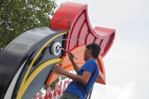 Bandar Mutiara, hornbill sculpture, dayak bidayuh, Entikong, icon, Kuching, news, Pontianak, 沙捞越, update, transborder, crossborder,