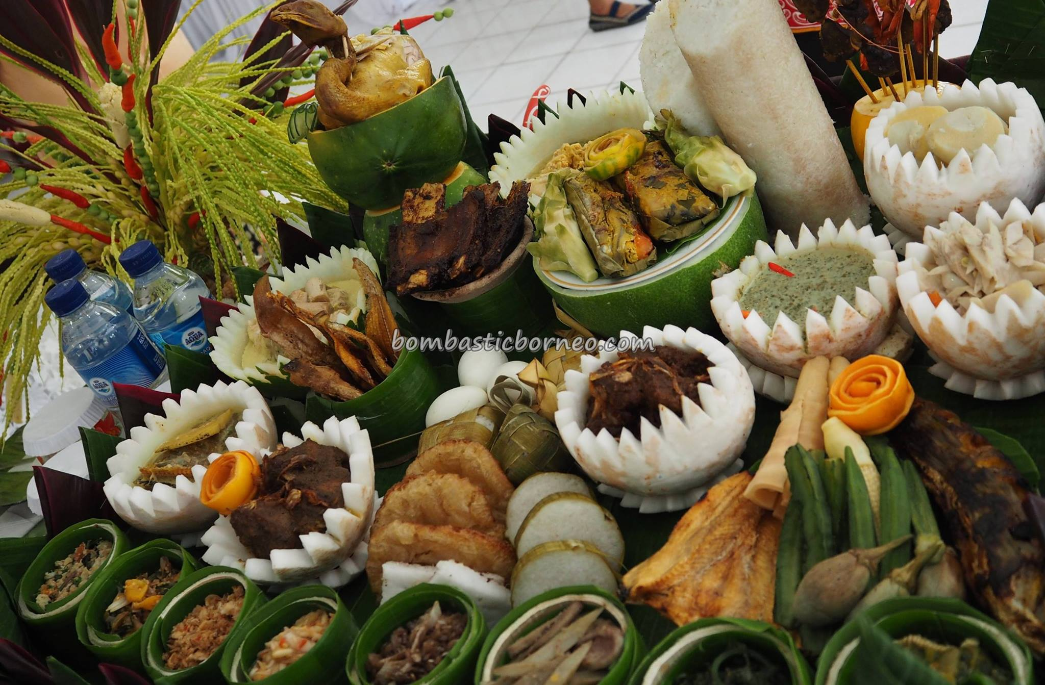 Lomba Memasak, exotic delicacy, authentic, Indigenous, Kalimantan Tengah, Borneo, Indonesia, native, suku dayak, event, Obyek wisata, tourism, traditional, tribal, Food decoration, tribe,