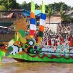 River Parade, Lomba Jukung, Indigenous, backpackers, Borneo, Central Kalimantan, Indonesia, Palangka Raya, carnival, culture, native, Sungai Kahayan, Obyek wisata, Tourism, travel guide, tribal,