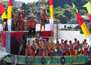 River Parade, Festival budaya, Isen Mulang, Authentic, Borneo, 中加里曼丹, Kalteng, culture, native, Suku Dayak, event, Sungai Kahayan, Obyek wisata, Tourism, travel guide, tribe